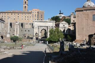 Image of the Forum in Rome, Italy