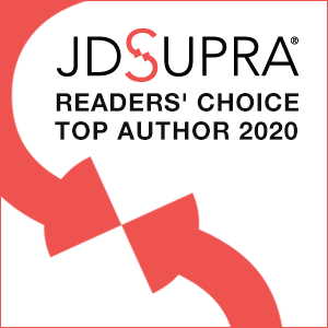 JDSUPRA Readers' Choice Top Author 2020